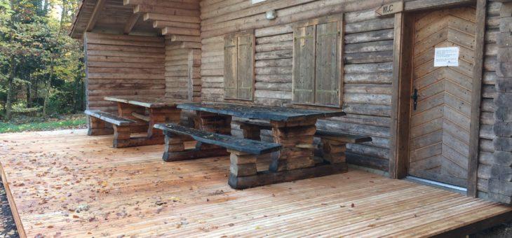 Terrasse en bois massif